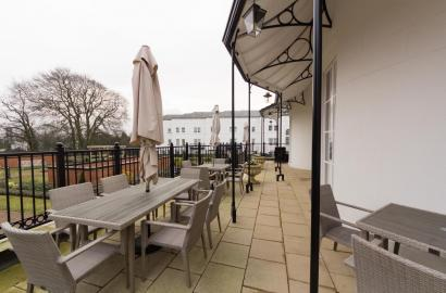 The terrace at Three Church Road at St George's Place