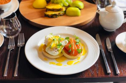 Poached eggs and salmon - perfect breakfast